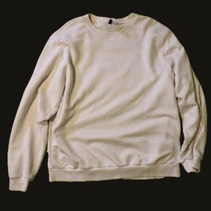 DIVIDED | XL | Crew Long Sleeve Sweater | White